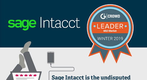 Sage Intacct is #1 in Customer Satisfaction - G2 Crowd Winter 2019