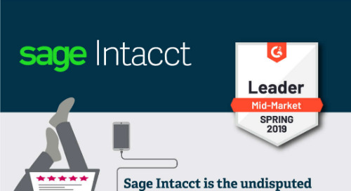 Sage Intacct is #1 in Customer Satisfaction - G2 Crowd Spring 2019