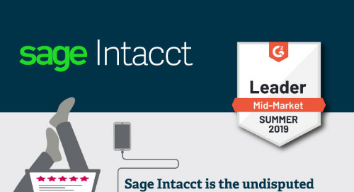 Sage Intacct is #1 in Customer Satisfaction - G2 Crowd Summer 2019