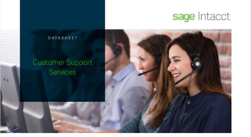 Sage Intacct Customer Support Data Sheet