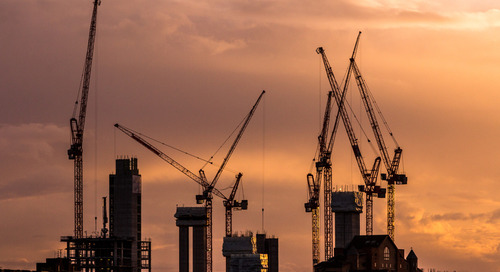 London's Cranes - Brexit Affecting UK Construction