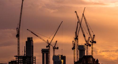 London's Cranes - Brexit Affecting UK Construction