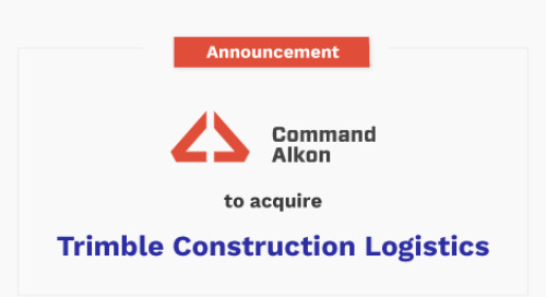 Command Alkon to Acquire Trimble's Construction Logistics Business