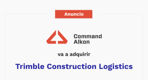 Command Alkon anuncia acuerdo de adquisición con Trimble Construction Logistics