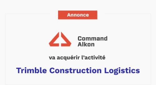 Command Alkon va acquérir l'activité Trimble Construction Logistics