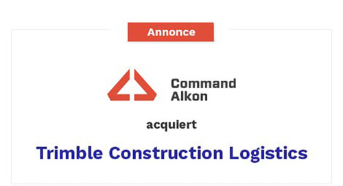 Acquisition complète de Trimble Construction Logistics Business par Command Alkon
