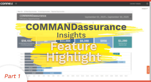 COMMANDassurance Insights Feature Highlight | Efficiency Opportunities Screen