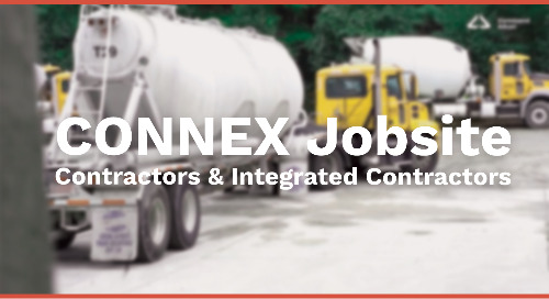 CONNEX Jobsite for Contractors and Integrated Contractors