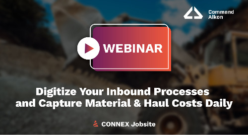 CONNEX Jobsite Digitize Your Inbound Processes | Webinar