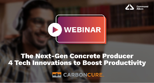 The Next-Gen Concrete Producer | 4 Tech Innovations to Boost Productivity | Webinar