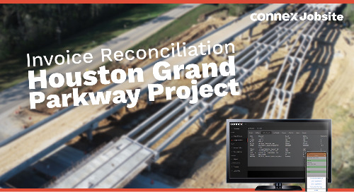 Houston Grand Parkway Project | eTicket Reconciliation with CONNEX Jobsite
