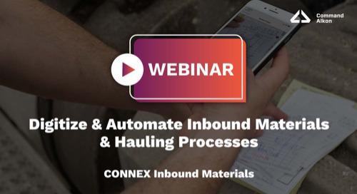 Digitize & Automate Inbound Materials & Hauling Processes