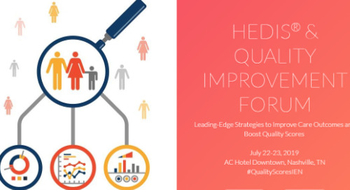 HEDIS & Quality Improvement Forum | July 23-23, 2019 | Nashville, TN