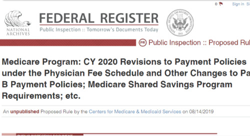 MIPS 2020 Proposed Rule