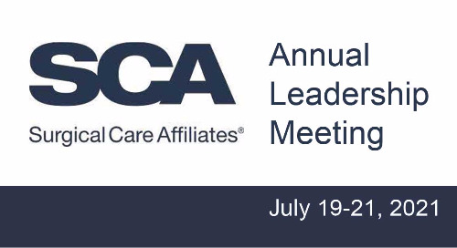 SCA Annual Leadership Meeting, July 19-21, 2021