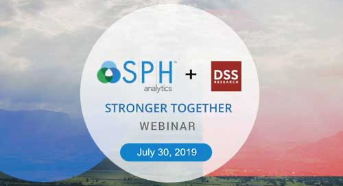 Webinar Recording: STRONGER TOGETHER - SPH Analytics + DSS Research