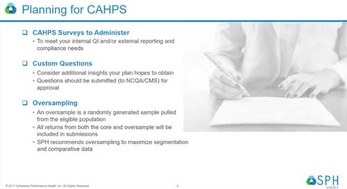 Webinar Recording: Optimizing CAHPS for Added Value and Insights
