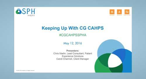 Webinar Recording: Keeping Up with CG CAHPS