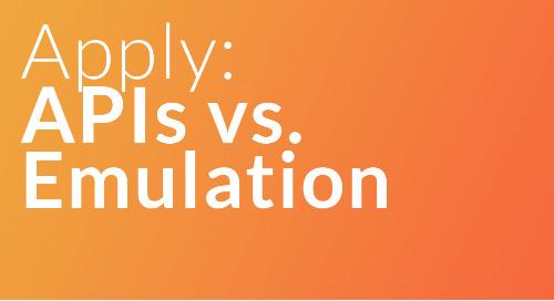 RolePoint Apply: APIs vs Emulation