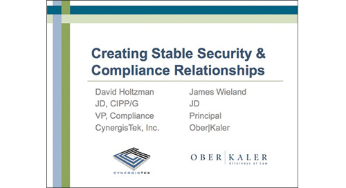 Creating Stable Security & Compliance Relationships