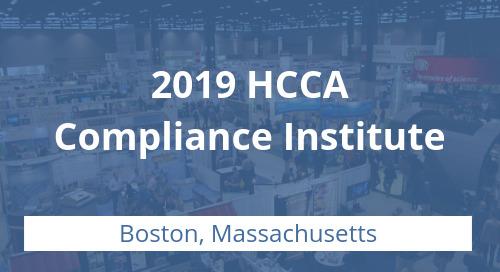 HCCA Compliance Institute 2019