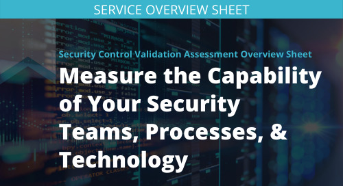 Security Control Validation Assessment Overview Sheet