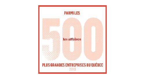 Les Affaires - 500 plus grandes entreprises du Québec 2019