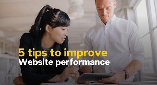 Infographique : 5 façons d'améliorer le rendement de votre site Web