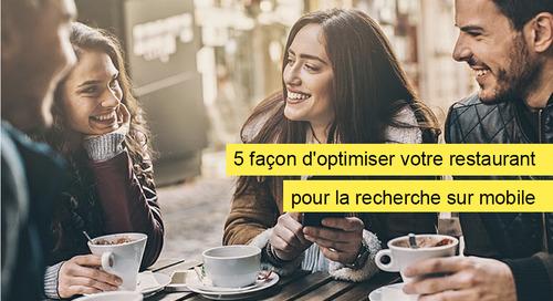 Infographique : 5 façon d'optimiser votre restaurant pour la recherche sur mobile