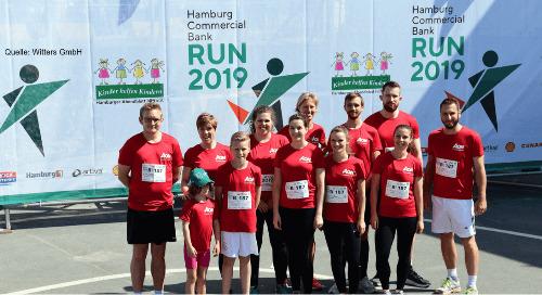 Hamburg Commercial Bank Run: cut-e ganz sportlich beim Charity-Lauf