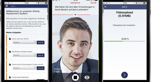 So geht Recruiting heute: cut-e startet mobiles Video-Assessment vidAssess