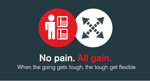 All gain, no pain: when the going gets tough, the tough get flexible