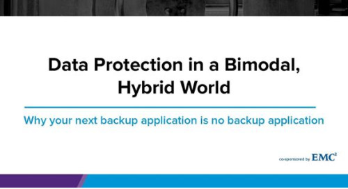 Data Protection in a Bimodal, Hybrid World