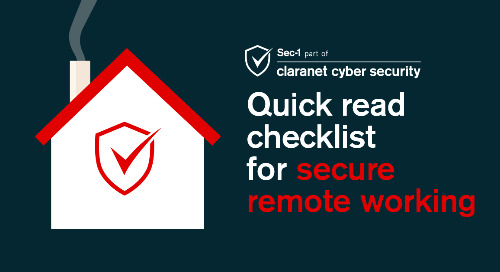 Quick read checklist for secure remote working