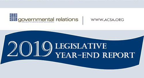 ACSA's 2019 Legislative Year-End Report