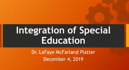 The Integration of Special Education from the Top Down