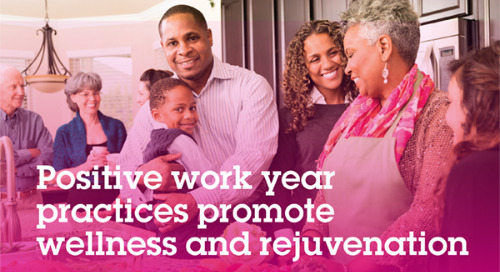 Positive work year practices promote wellness and rejuvenation
