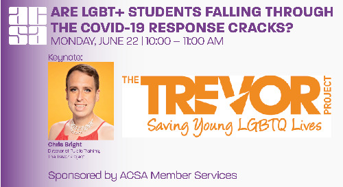 Webinar: Are LGBTQ+ Students Falling Through the COVID 19 Response Cracks?