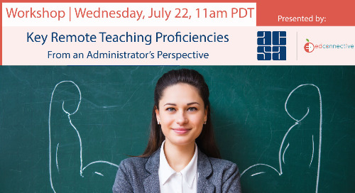 Key Remote Teaching Proficiencies from the Administrator's Perspective