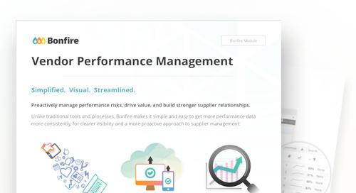 Data Sheet: Vendor Performance Management