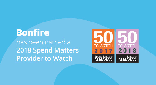 Bonfire named a 2018 Provider to Watch by Spend Matters