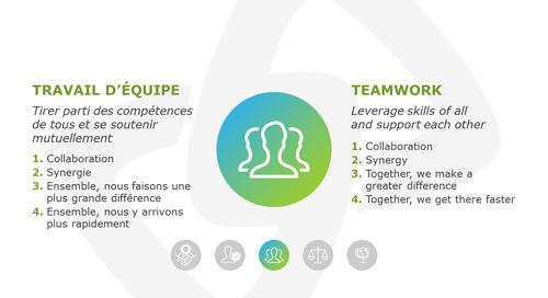 Le travail d'équipe / Teamwork
