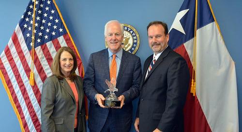 U.S. Senator John Cornyn Receives Soaring Eagle Award