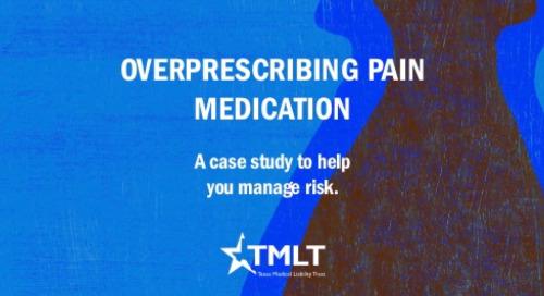 Overprescribing pain medication