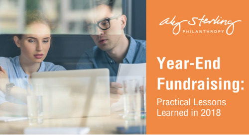 Year-End Fundraising: 2018 Practical Lessons Learned