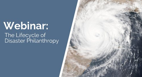 The Lifecycle of Disaster Philanthropy