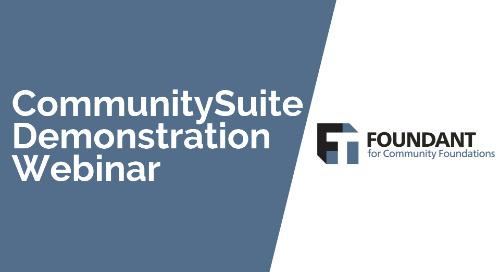 CommunitySuite Demonstration Webinar