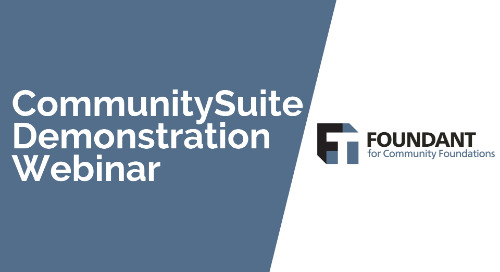 CommunitySuite Demonstration Webinar
