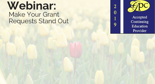 Make Your Grant Requests Stand Out