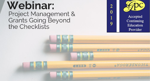 Project Management & Grants - Going Beyond the Checklists